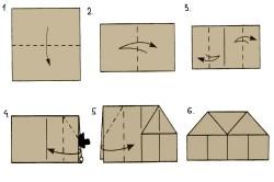 Этапы изготовления домика из картона