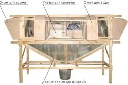 Пример устройства клетки для кроликов