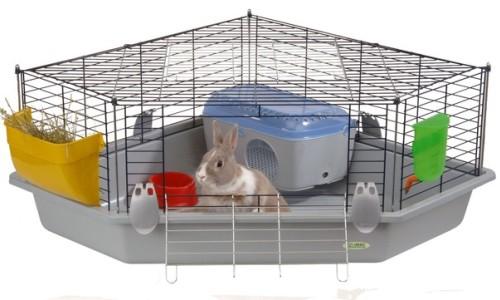 Уютная клетка для декоративного кролика