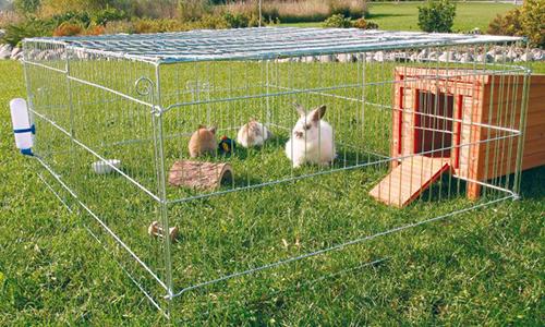 Сборный вольер для кроликов